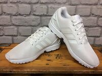 ADIDAS MENS WHITE ZX FLUX TRAINERS MONOCHROME RUNNING TRAINING S79093