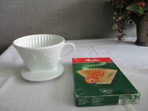 MELITTA Kaffeefilter 101 Porzellan  + Filtertüten 101 1-Loch neu Klassiker