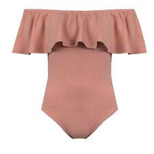 Womens Ladies Off The Shoulder BARDOT Bodysuit