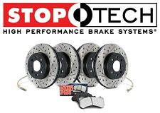Toyota MR2 Spyder Front and Rear Drilled & Slotted Brake Rotors Sport Pads KIT