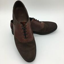Dexter Two Tone Brown Suede Saddle Shoes Bluchers Derby Men's 13 M USA