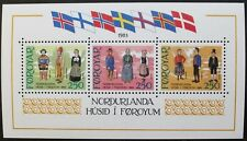 Inauguration of Nordic house stamp sheet, 1983, Faroe Islands, SG ref: MS89, MNH