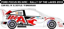 DECALS 1/43 FORD FOCUS WRC - #14 - DOYLE - RALLY OF THE LAKES 2013 - MFZ D43227