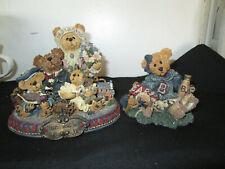 Lot of 2 Boyd's Bear & Friends Figurines, #2268 1995 & #227804 1999, Gc