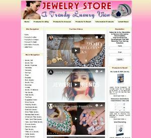 AMAZON STORE Ready Made Jewelry Affiliate Business Website Amazon+Google