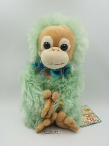 "Baby Coco & Natsu B2804 Orangutan Rainbow Nakajima Beanie Plush 8"" Toy Doll"