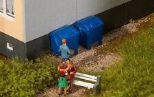 FALLER 180914 - lot de 2 bidons ordures - échelle 1/87