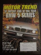 Motor Trend Magazine February 1997 Import Car of Year BMW 5 Series (G) OO A1