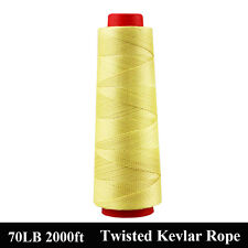 2000ft 70lbs Twisted Kevlar Fiber Line String Line Outdoors Made with Kevlar