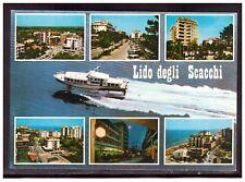 Cartolina Lido degli Scacchi Ferrara Vedutine Auto Barca HE230