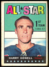 1967 68 TOPPS HOCKEY #121 HARRY HOWELL NEW YORK N Y RANGERS ALL STAR VG-EX CARD