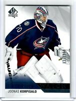 2015-16 SP AUTHENTIC  FUTURE WATCH Joonas Korpisalo 527 OF 999 Blue Jackets !!