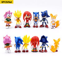 Sonic the Hedgehog Action Figures 6PCS 7CM Collectible Doll Toy Cake Toppers