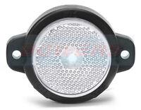 WAS W24 RR 12V 24V SCREW ON LED ROUND WHITE FRONT MARKER LAMP LIGHT + REFLECTOR