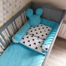 Luxury  baby toddler bedding set, bumper set 6 pcs cot bedcot, Blue, ireland