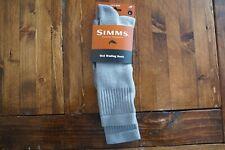 NWT Simms Fishing Wet Wading Sock Ash Grey Size L (9-12) Technical Fishing Socks