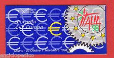 W295 ITALIA 1998 LIBRETTO GIORNATA EUROPA    MNH**