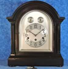 Antique Junghans AUCKLAND Westminster Chime Mahogany Bracket Mantel Clock- Works