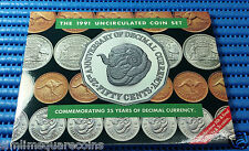 1991 Australia Commemorating 25 Years of Decimal Currency Uncirculated Coin Set