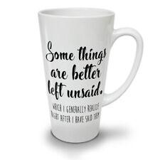 Las cosas mejor dicho Nuevo Blanco Té Café Taza de café con leche 12 17 Oz | wellcoda