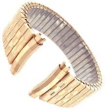 16-20mm Hadley Roma Twist O Flex Stainless Curved Rose Gold Watch Band 7344
