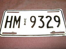 "USA Forces in Germany  License Plate, ""HM (USA) 9329""."