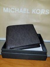 Michael Kors Men's Jet Set Logo Billfold Wallet Brown with 8 Credit Card Slots