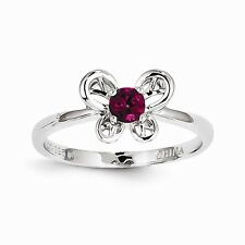 Sterling Silver Created Ruby Ring Size 9 QBR24JUL-9 W15073