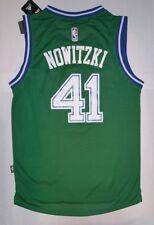 58f7dc0ce8f Dirk Nowitzki  41 Dallas Green Swingman Hardwood Classics Men s Jersey NWT