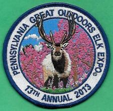 "Pennsylvania Game Fish Commission Related NEW 4"" Pa Elk Outdoor Expo 2013 Patch"