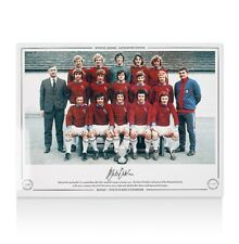 Martin Dobson Signed Burnley Photo - 1972/73 Division 2 Champions Autograph