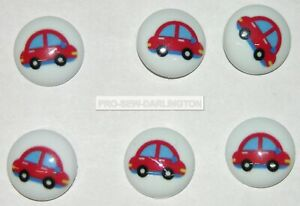 6 x 15mm Picture Baby Children Shank Buttons ( Choice Of Styles )