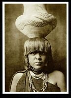 ⫸ 951 Postcard Girl & Jar Povi-Tamu San Ildefonso, E. Curtis Photo 1905 - New