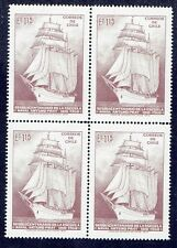 CHILE 1972 STAMP # 818 MNH BLOCK OF FOUR SHIP NAVY