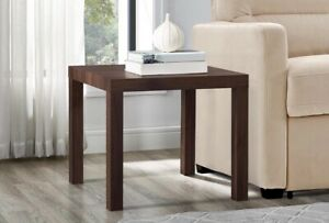 Mainstays Parsons End Table Canyon Walnut/ Free Shipping