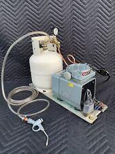 Gast Vacuum Pump Mini Laboratory Desk Top Air Compressor Laser Sonics Quincy