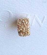 Genuine New Pandora 14ct Gold Flower Mayflower Clip Charm 750842CZ