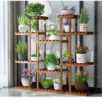 Wooden Plant Stand 11 Tier Flower Pot Display Shelf Storage Rack for Living Room