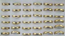 Stainless Steel Men's Fashion Rings 9pcs Wholesale Lots Gold Plated Jewelry