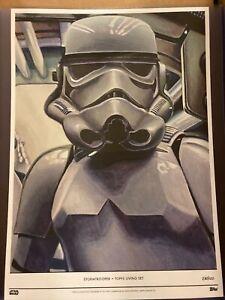 2020 Topps Star Wars Living Set #4 Stormtrooper Fine Art Print 10x14 #d 30/100