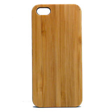 BAMBOO Case for iPhone 5/5S & SE Cover EcoFriendly Plain Wood Grain Skin Natural