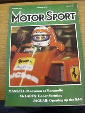 Feb-1989 MOTOR SPORT MAGAZINE: GIORNALE SETTIMANALE AUTOMOBILISMO-in sospeso il contenuto W