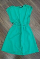 Hm Womens Ladies Midi Summer Dress Size 10 Green Sleevelees Skater  AG