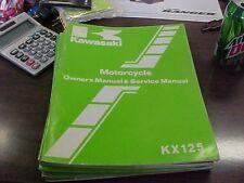 Kawasaki KX 125 B1 Owner's Manual & Service Manual