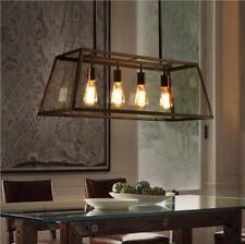Industrial 4-Light Kitchen Island Light Pendant Lamp Chandelier Ceiling Fixtures