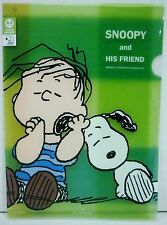Hallmark Kokuyo Peanuts Snoopy And His Friend Linus Clear A4 Size Holder