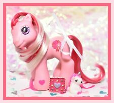 ❤️My Little Pony G3 Baby Ribbons & Bows 2005 Winter Xmas Exclusive Pink Red❤️