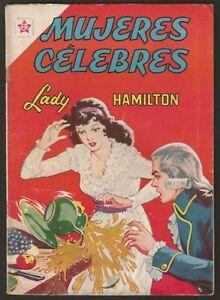 Mujeres Celebres nº 30 Lady Hamilton Comic Spanish Mexican Novaro 1963