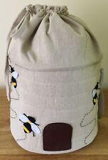 BEE HIVE DRAWSTRING BAG Knitting & Crocheting Storage SUPER QUALITY