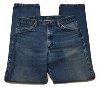Vintage Wrangler Cowboy Cut Distressed Worn Work Jeans Mens Size 34 x 30 13MWZ